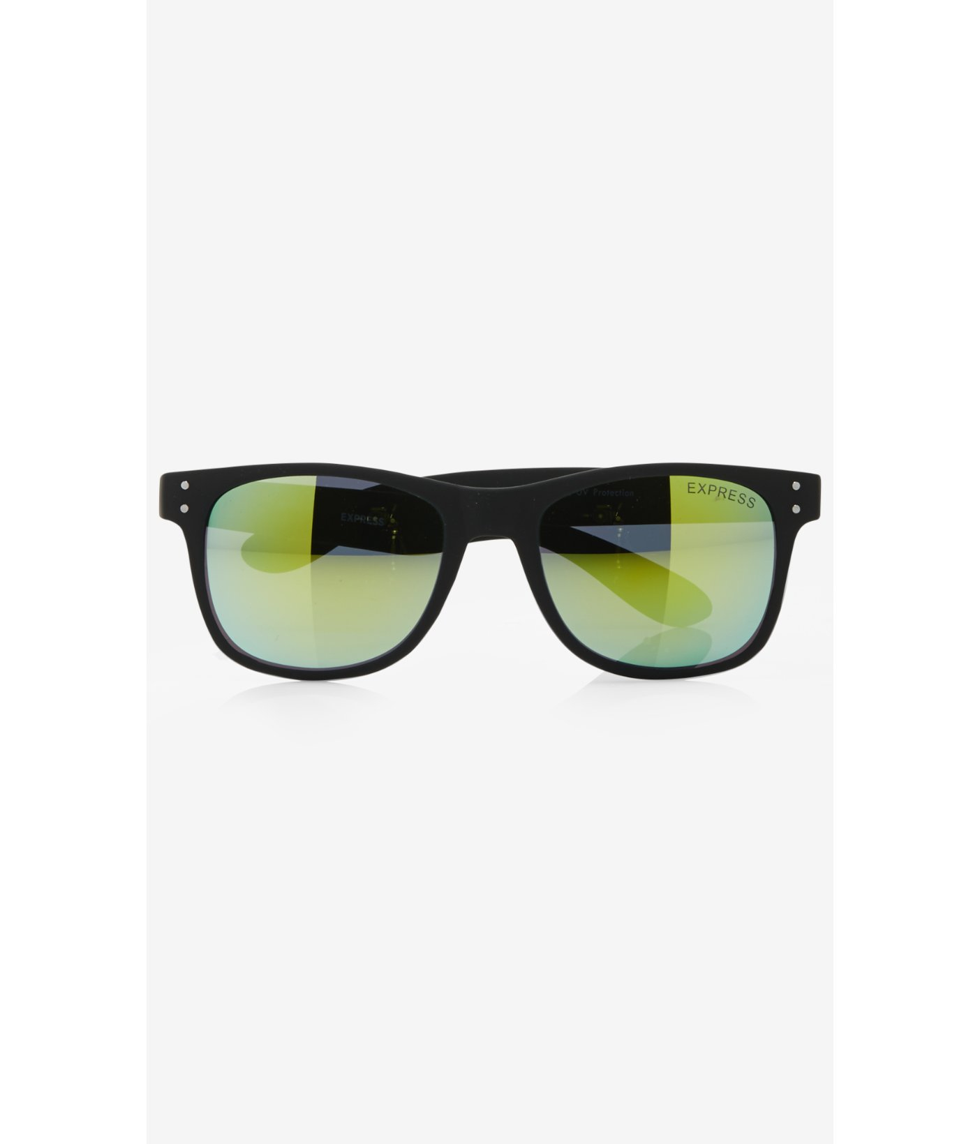 92887735b7 Lyst - Express Green Mirrored Matte Square Sunglasses in Black for Men