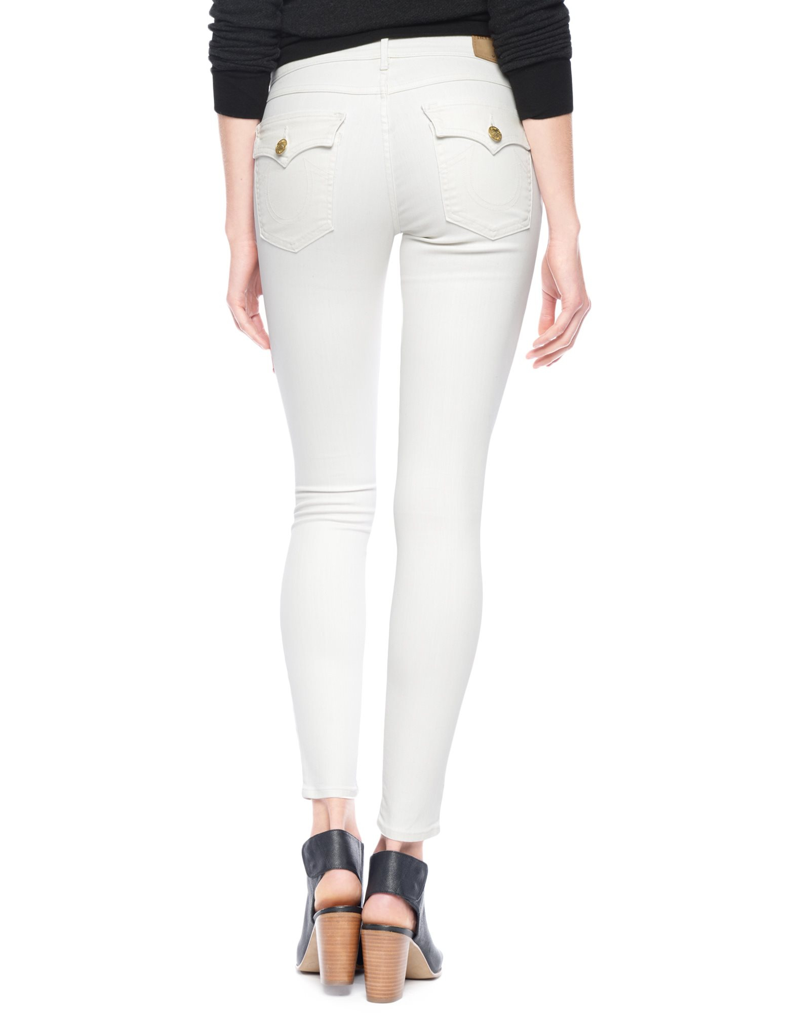 True religion Halle Super Skinny White Denim Womens Jean in White ...
