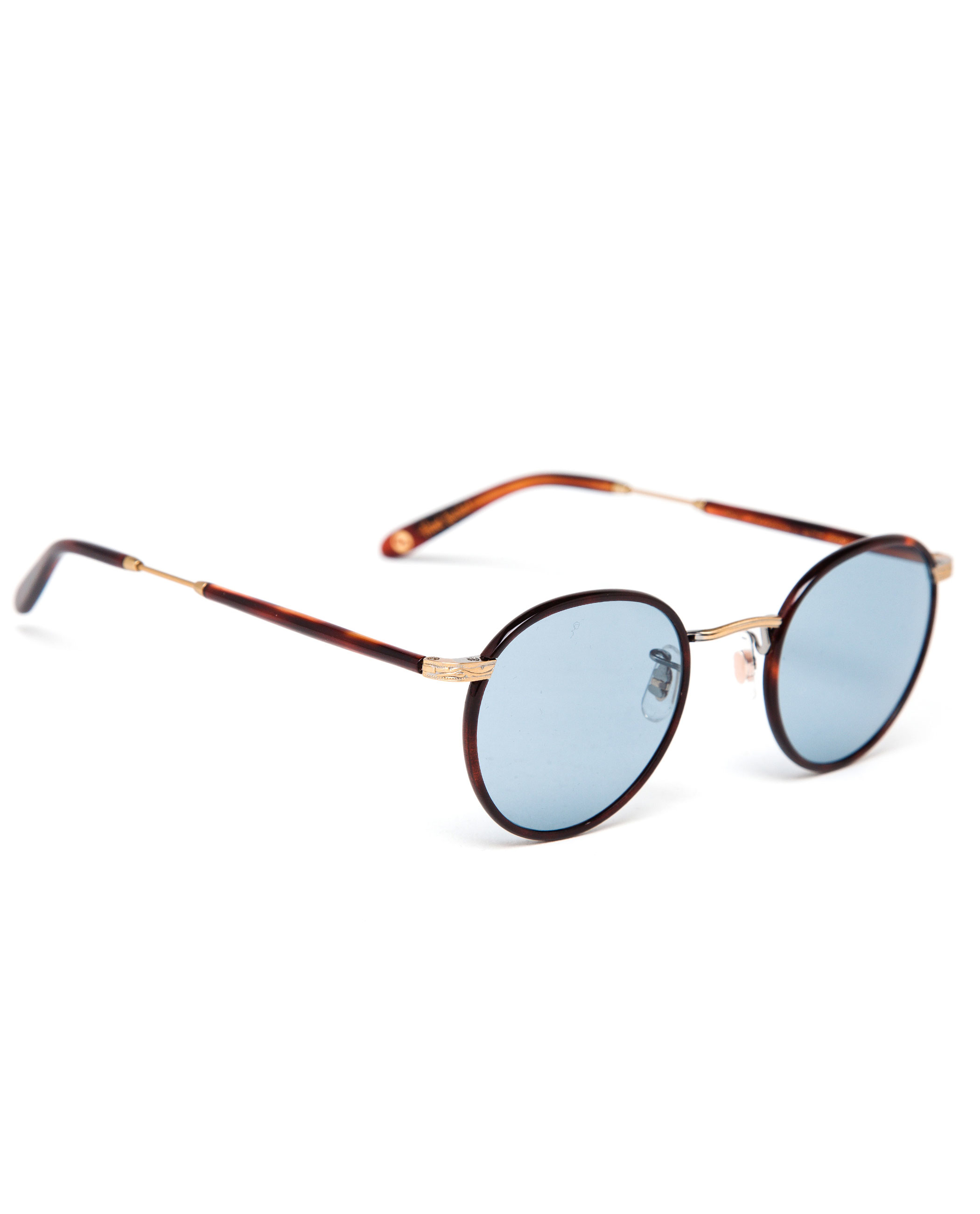 Garrett Leight Tortoiseshell Round Wilson Sunglasses in Brown for Men