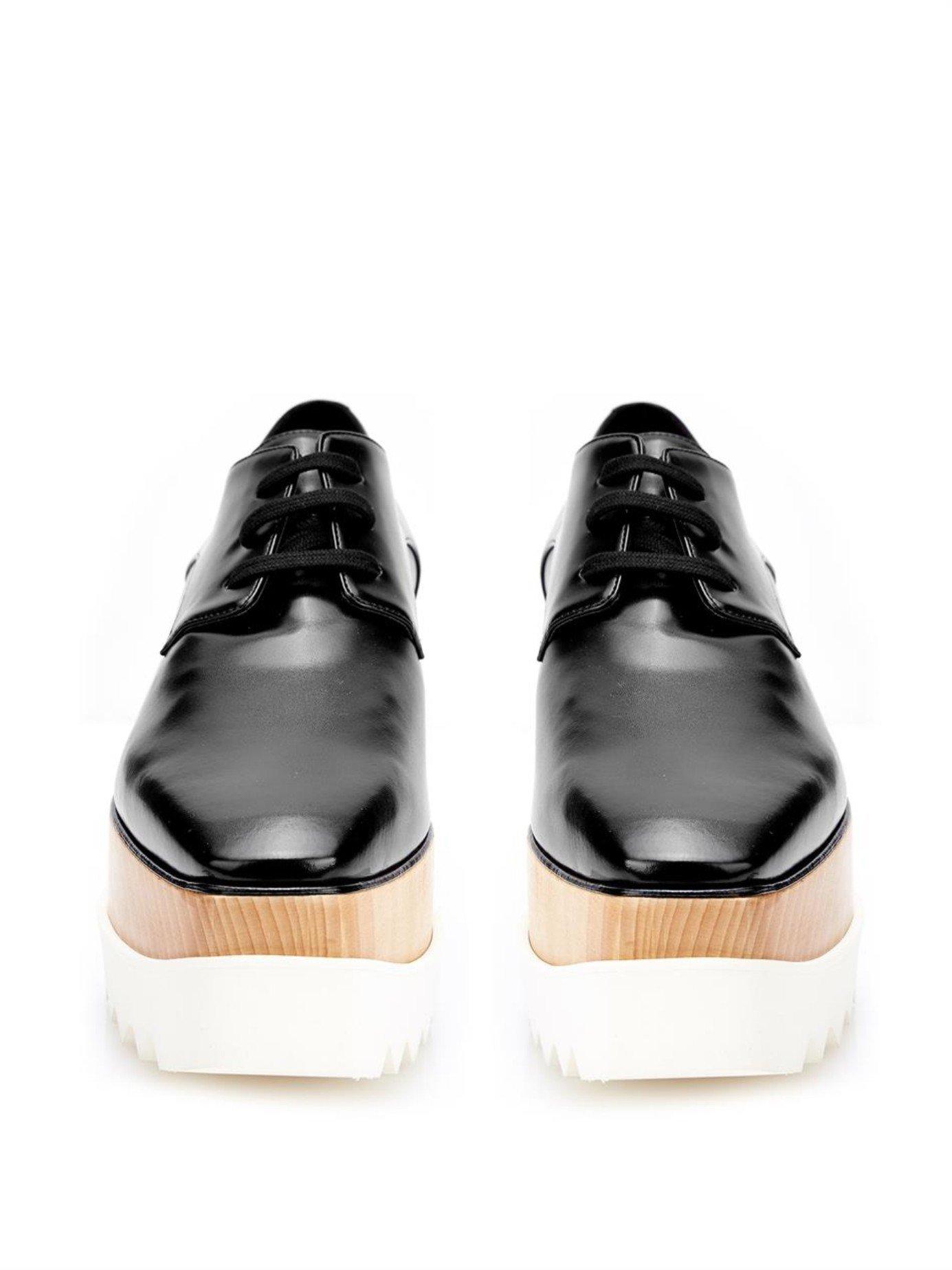 8471d17b5ddb Lyst - Stella Mccartney Elyse Lace-up Platform Shoes in Black