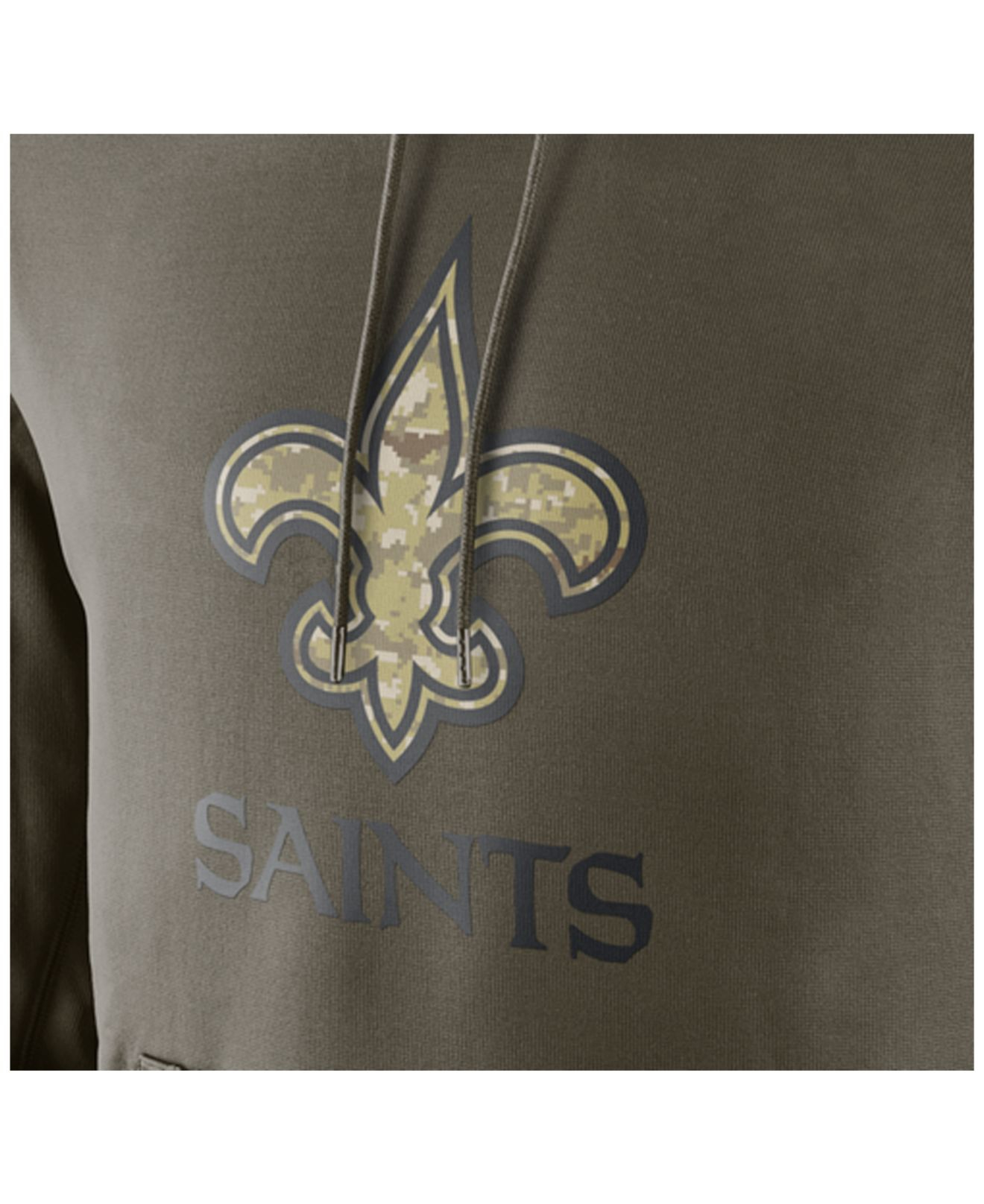 wholesale dealer 0002c 0caaa Nike Green Men's New Orleans Saints Salute To Service Ko Hoodie for men