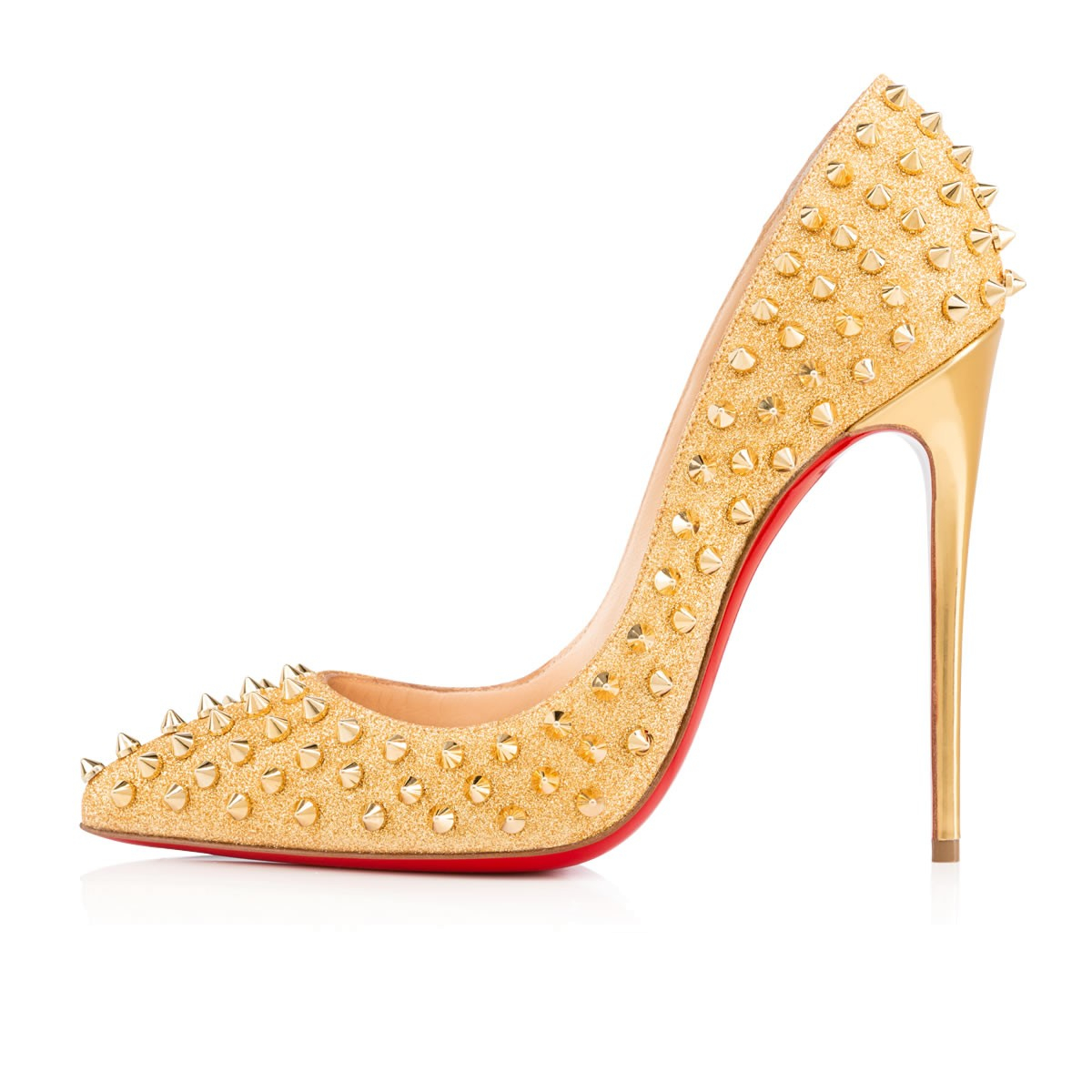christian louboutins replicas - Christian louboutin Follies Spike-Studded Glitter Red Sole Pump in ...