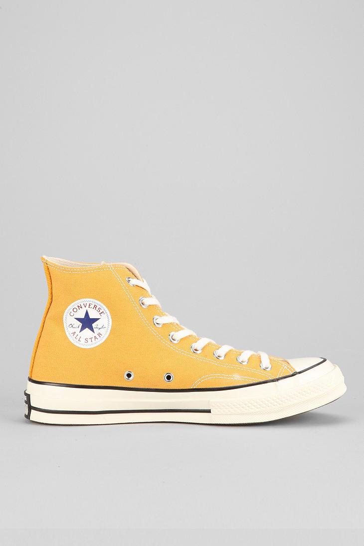yellow converse high tops mens