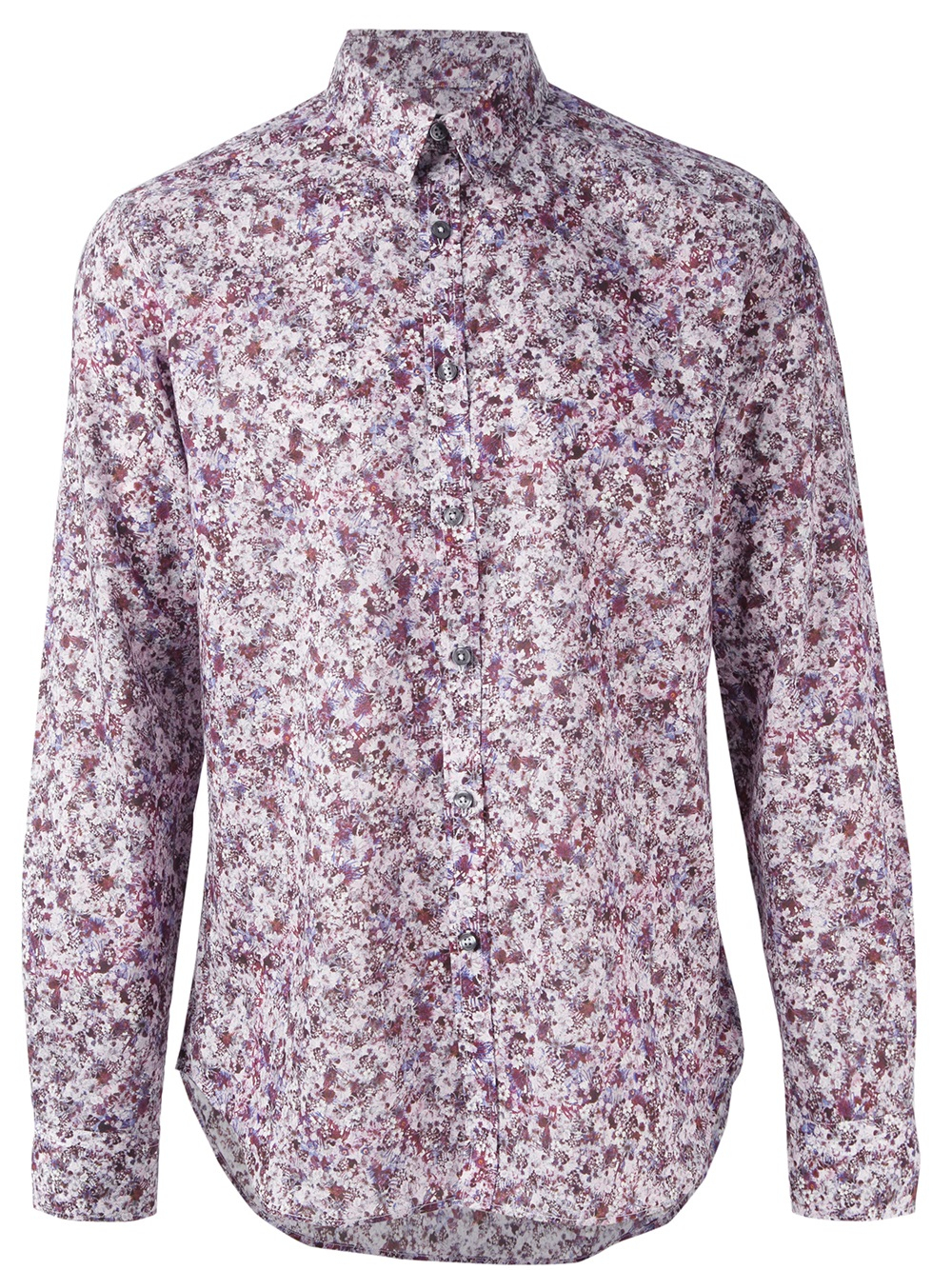 Paul smith Floral Print Shirt in Purple for Men | Lyst