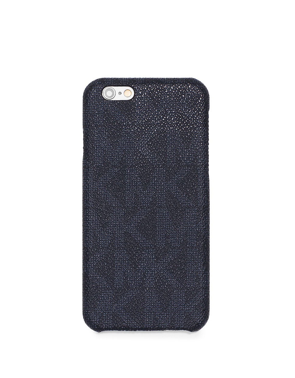 michael kors leather iphone and card case in blue for men lyst. Black Bedroom Furniture Sets. Home Design Ideas