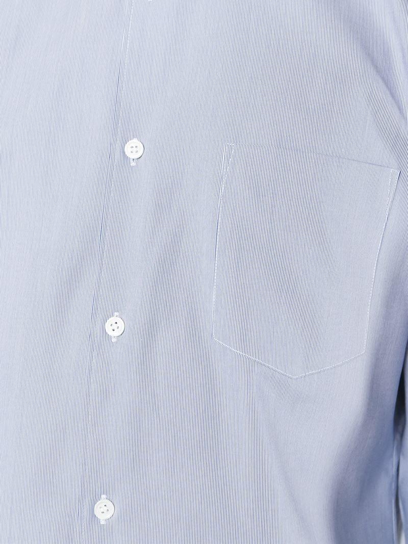 Comme des Garçons Cotton Shoulder Patch Shirt in Blue for Men