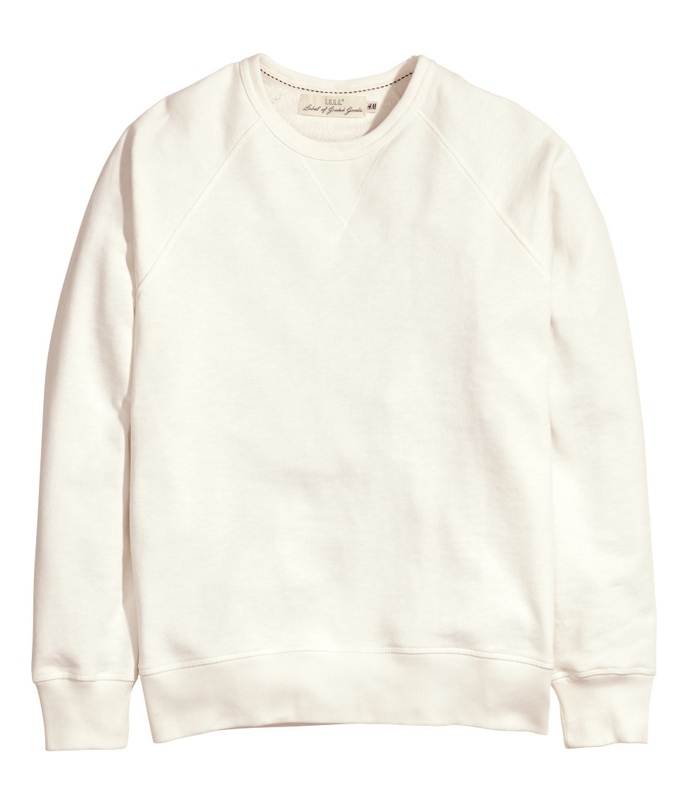 5a7e78e2d H&M Sweatshirt in White for Men - Lyst