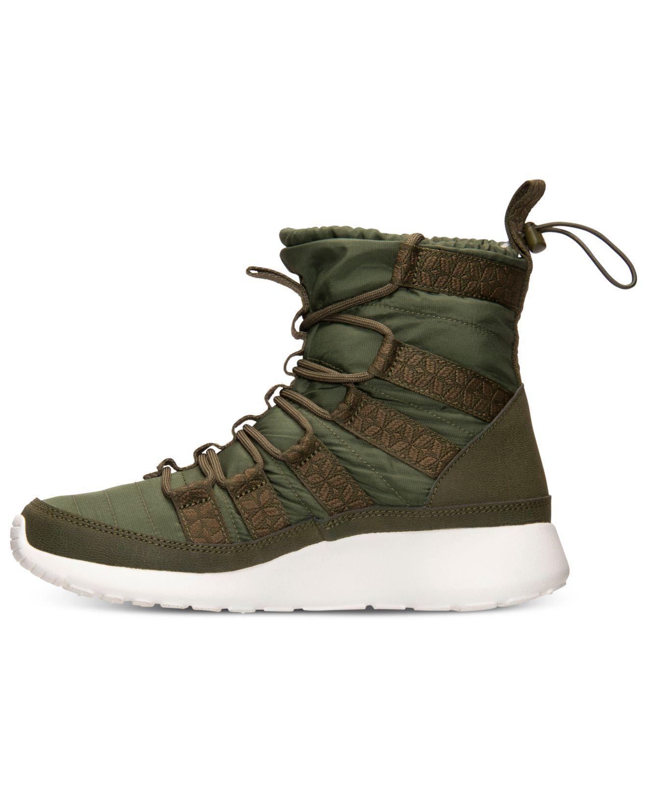 purchase cheap b76c2 4c57c ... Lyst - Nike WomenS Roshe Run Hi Sneakerboots From Finish Lin ...