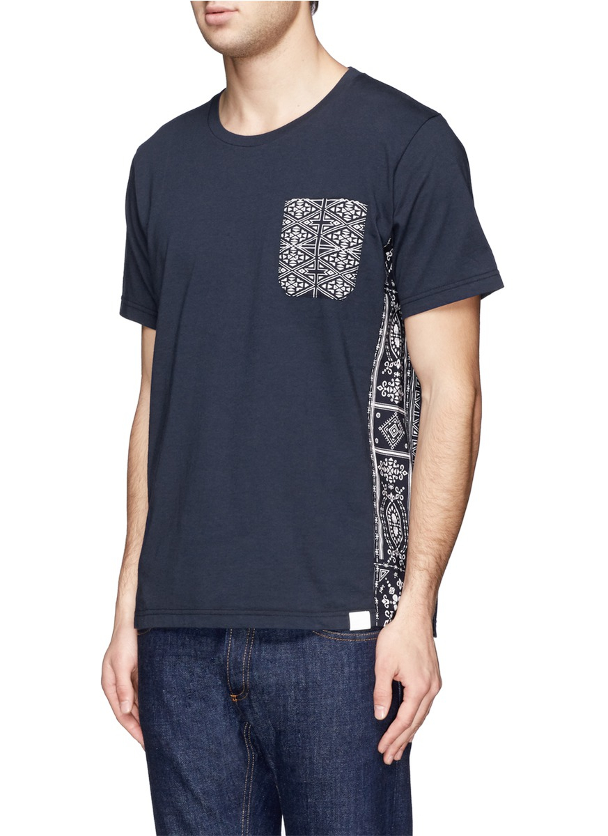 White Mountaineering Bandana Print Chest Pocket And Side