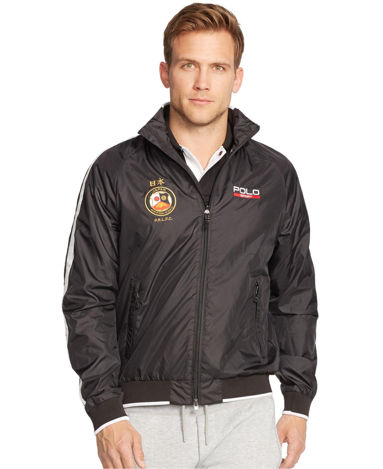 polo ralph lauren polo sport japan ripstop jacket in black for men. Black Bedroom Furniture Sets. Home Design Ideas