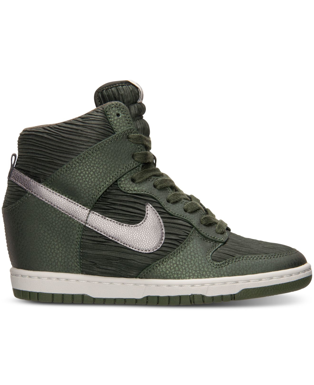 nike women 39 s dunk sky hi casual sneakers from finish line in green lyst. Black Bedroom Furniture Sets. Home Design Ideas