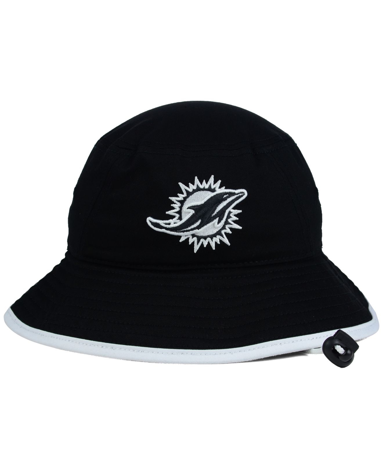 Lyst - KTZ Miami Dolphins Nfl Black White Bucket Hat in Black 1ec7aee444a