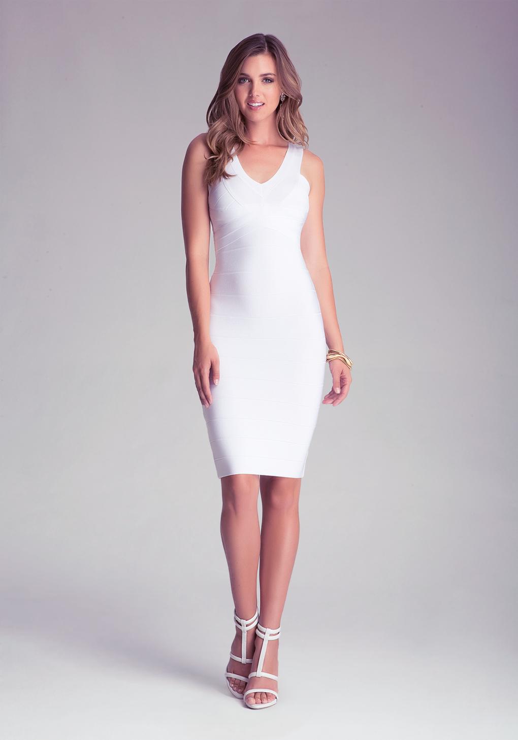 White Midi Bandage Dress
