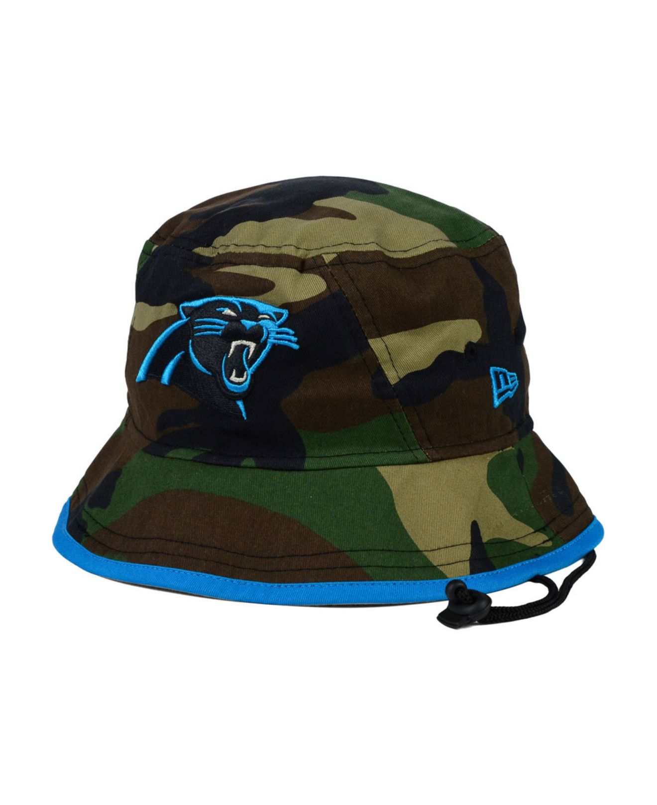 179a14c799d Lyst - KTZ Carolina Panthers Camo Pop Bucket Hat in Green for Men
