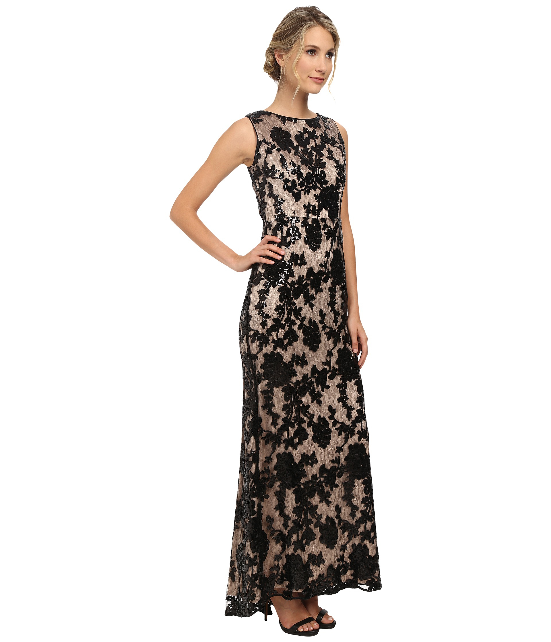 Lyst - Vince Camuto Sleeveless Sequin Gown in Black