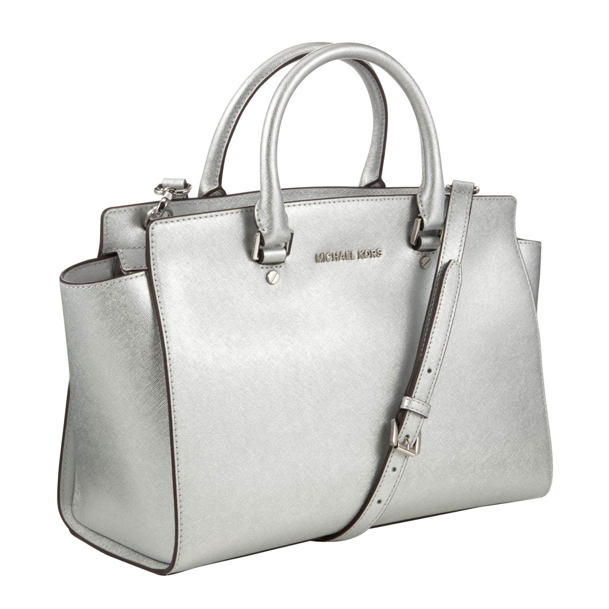 6c6bcf7294f6 MICHAEL Michael Kors Selma Leather Satchel Bag in Metallic - Lyst