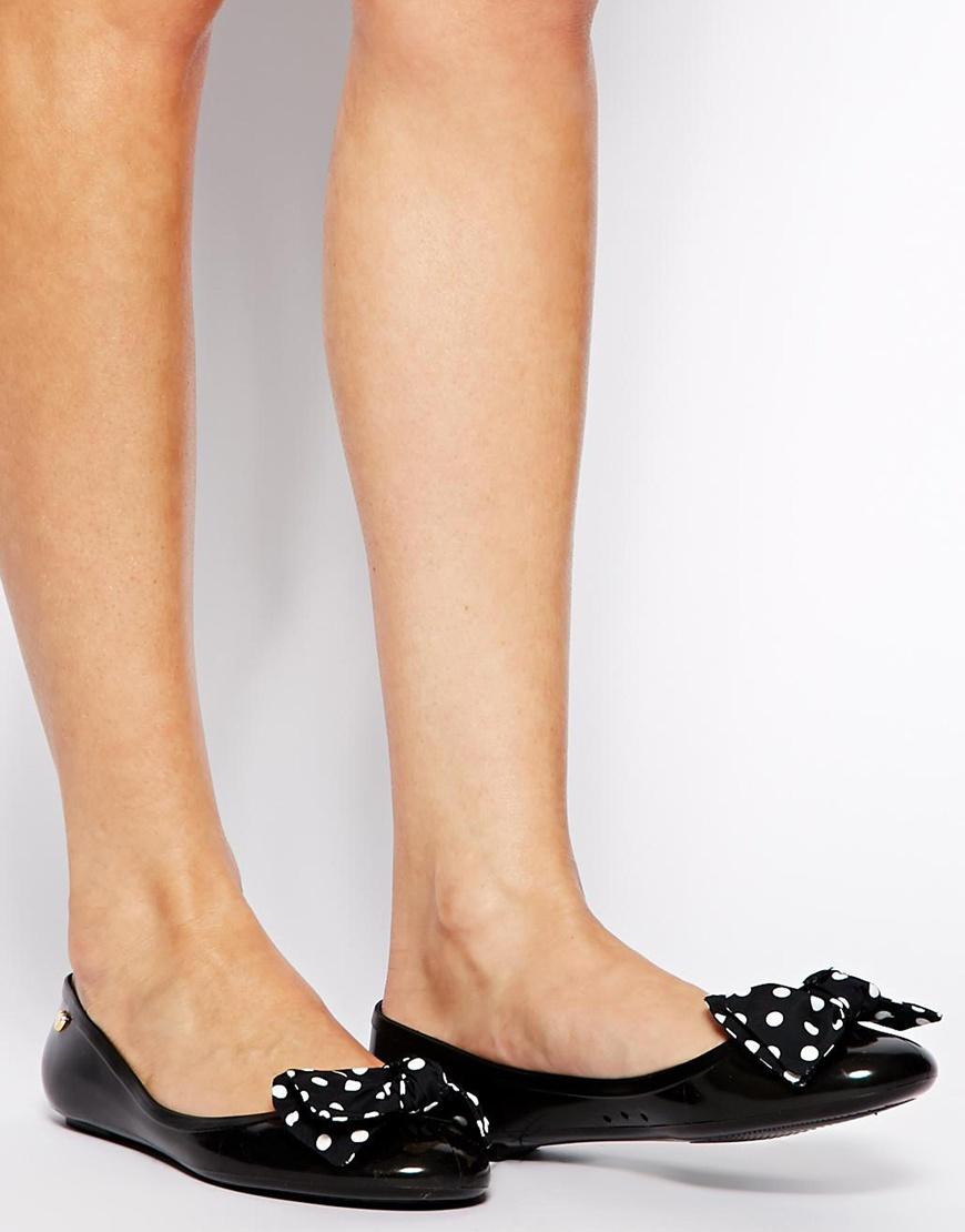recognized brands order vast selection Polka Dot Bow Jelly Ballerina Flat Shoes
