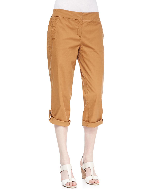 twill capri pants - Pi Pants