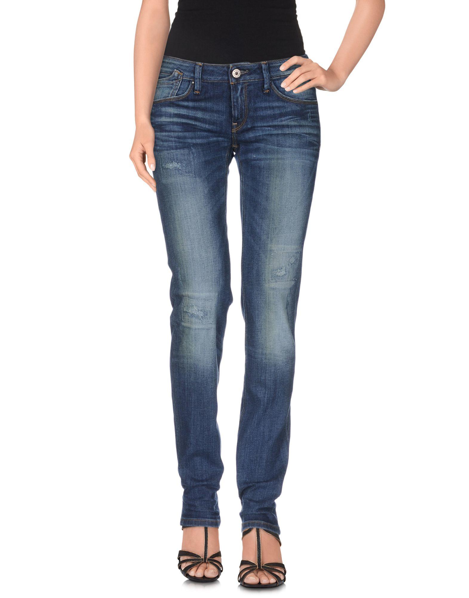 Lyst - Replay Denim Trousers in Blue