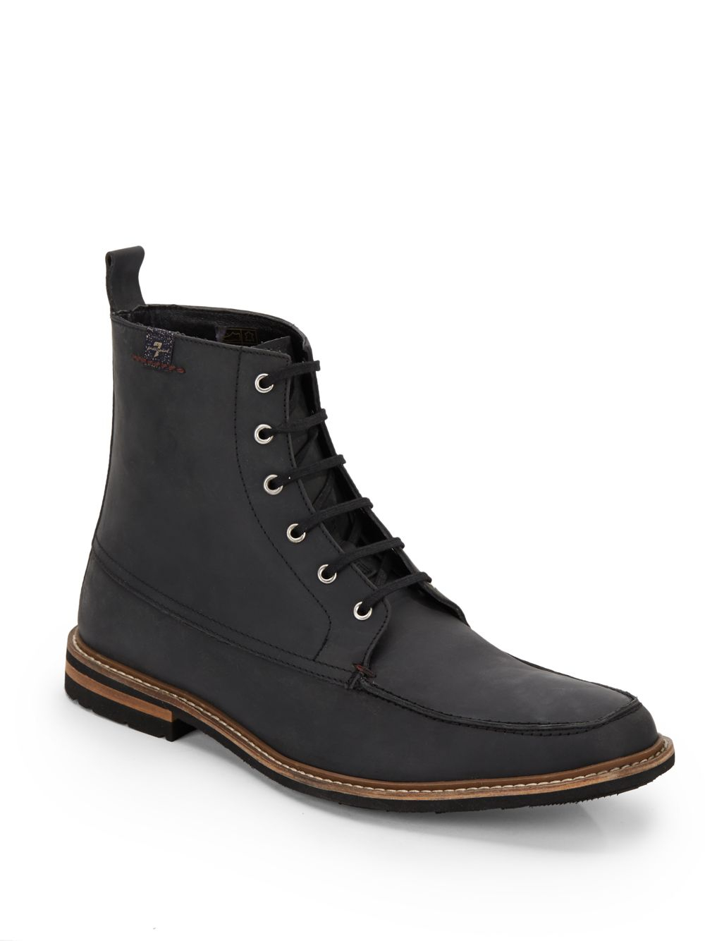 7 for all mankind cassius leather boots in black for