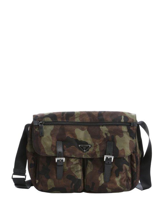 Prada Green and Black Camouflage Nylon Flap Front Messenger Bag in ... - prada weekender black