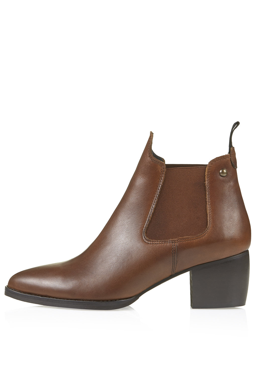 topshop margot chelsea boots in brown lyst
