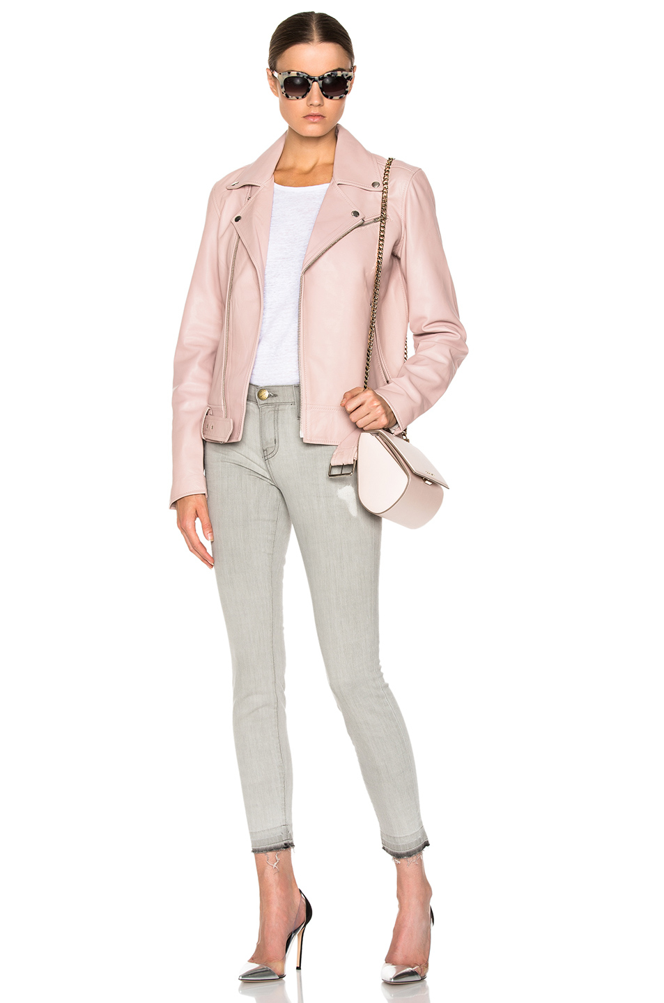 Blk dnm Leather Jacket 18 in Pink | Lyst