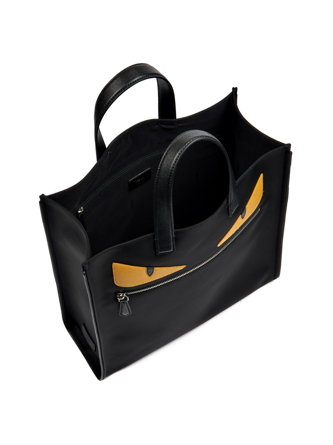 discount lyst fendi bag bugs leather and nylon tote in black for men a2a59  02c06 d635592181437