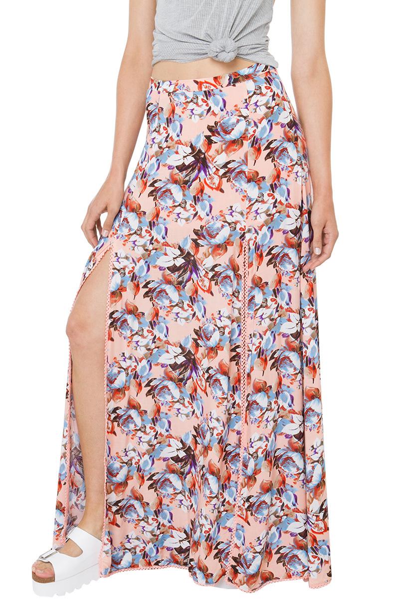 swing swing floral maxi skirt in lyst
