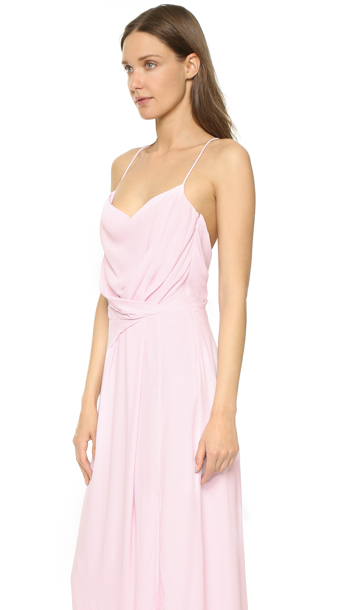 Lyst - Carven Drape Gown - Poudre in Pink
