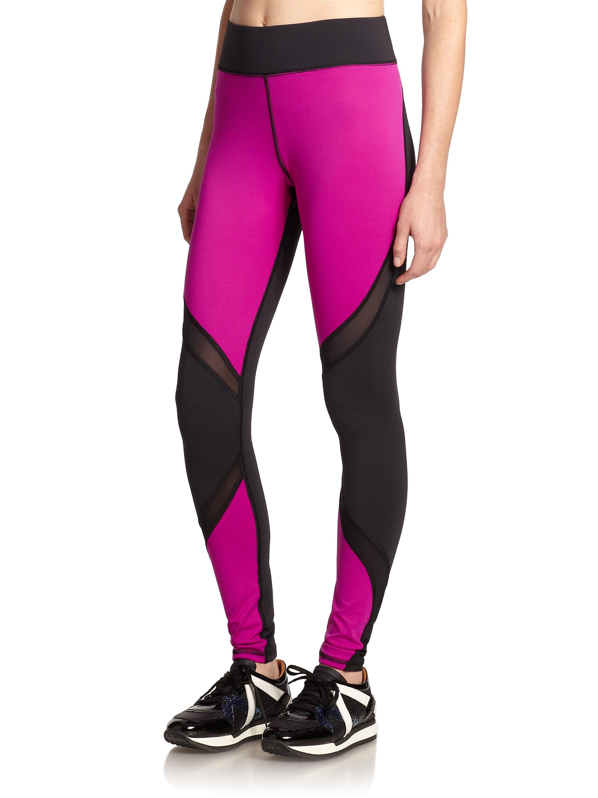 9f3c0636ab Lyst - Michi Suprastelle Colorblock Performance Leggings in Purple