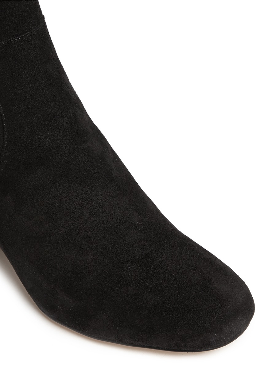 Sam Edelman Elina Suede Thigh-High Boots in Black
