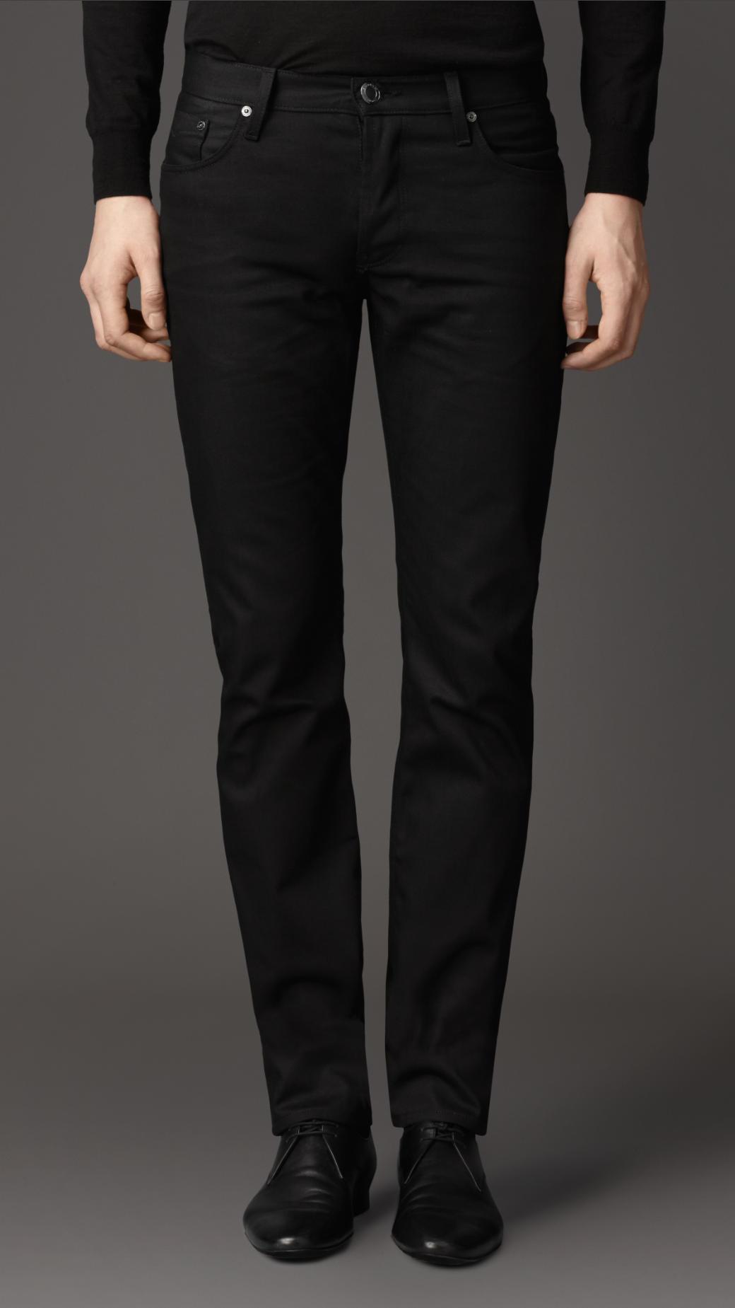 Burberry Steadman Black Slim Fit Jeans in Black for Men | Lyst