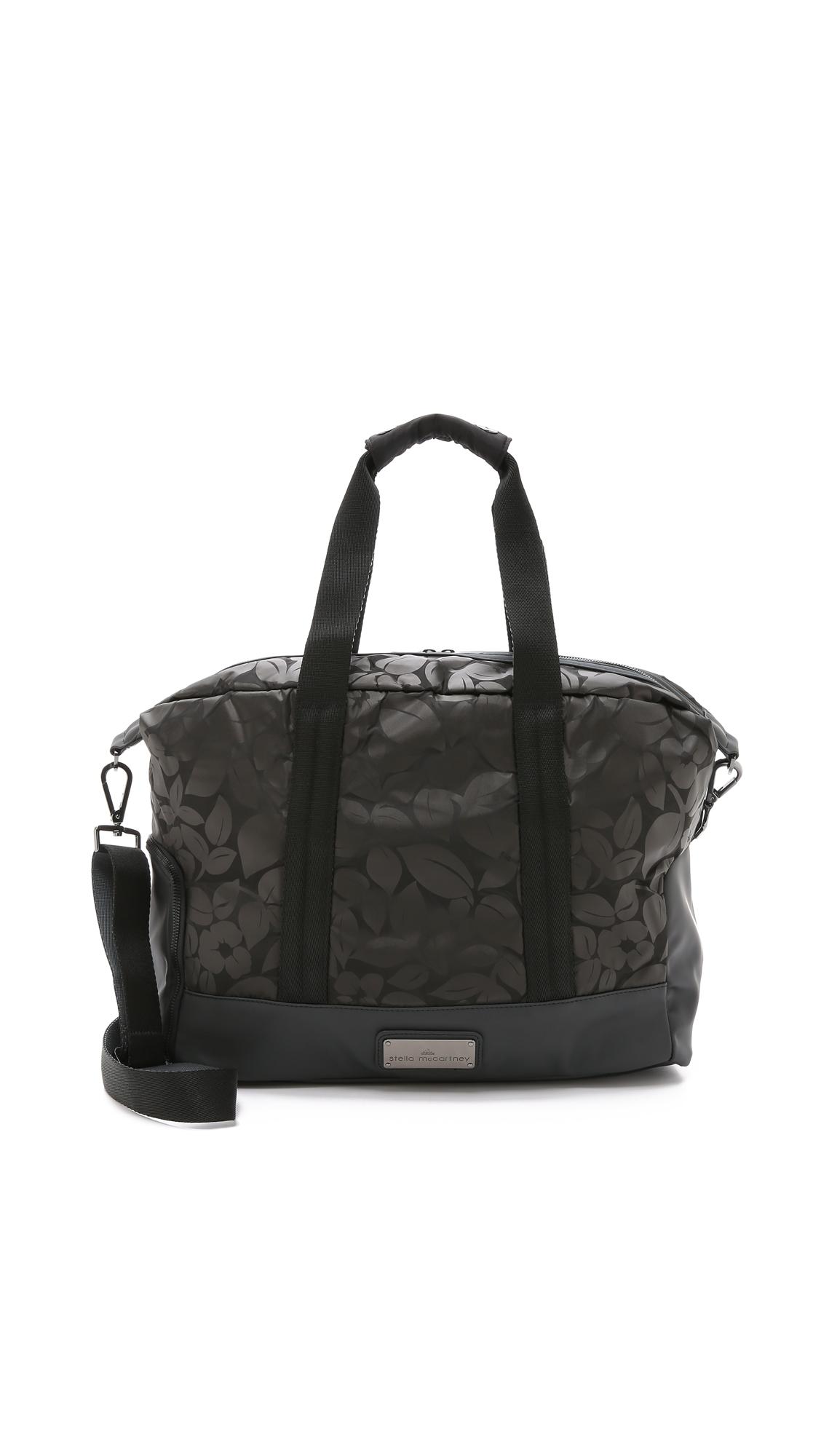 Lyst - adidas By Stella McCartney Small Gym Bag - Black gunmetal in ... d2d09425d8