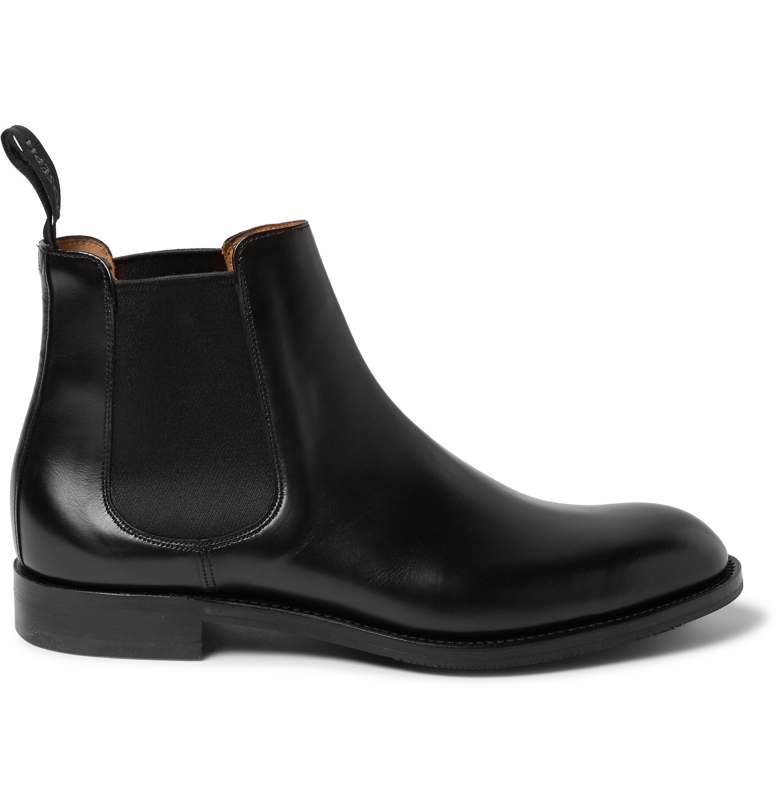cheaney godfrey leather chelsea boots in black for lyst