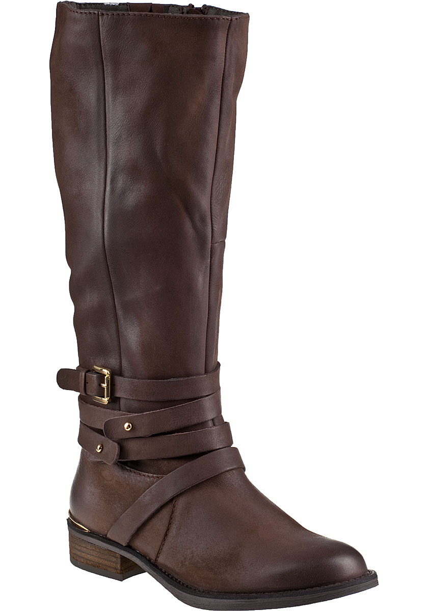 steve madden albany boot brown leather in brown lyst