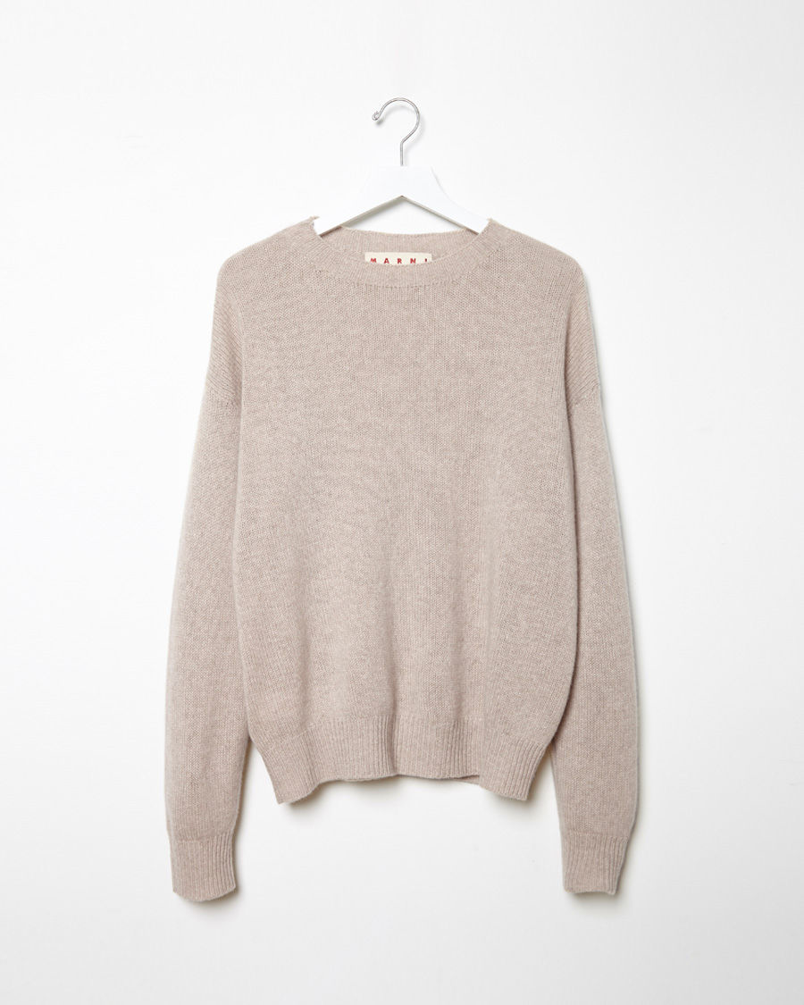 Marni Cashmere Sweater in Natural | Lyst