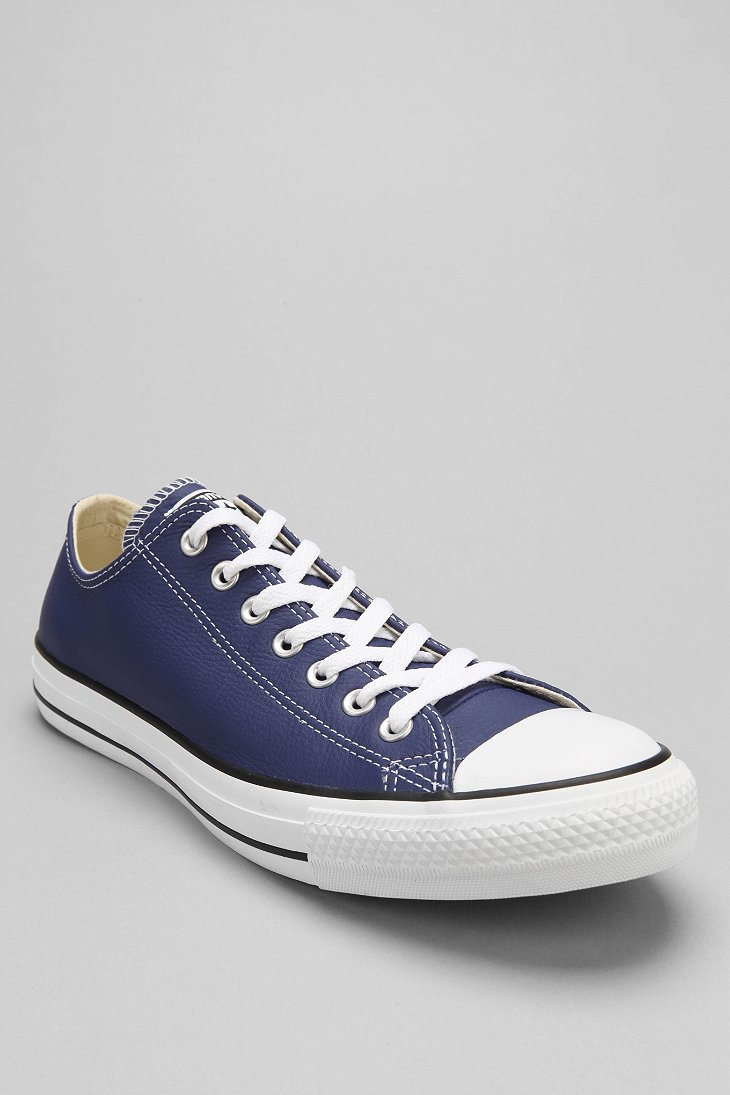 157868c6541 ... discount code for lyst converse chuck taylor all star leather low top  mens sneaker in blue