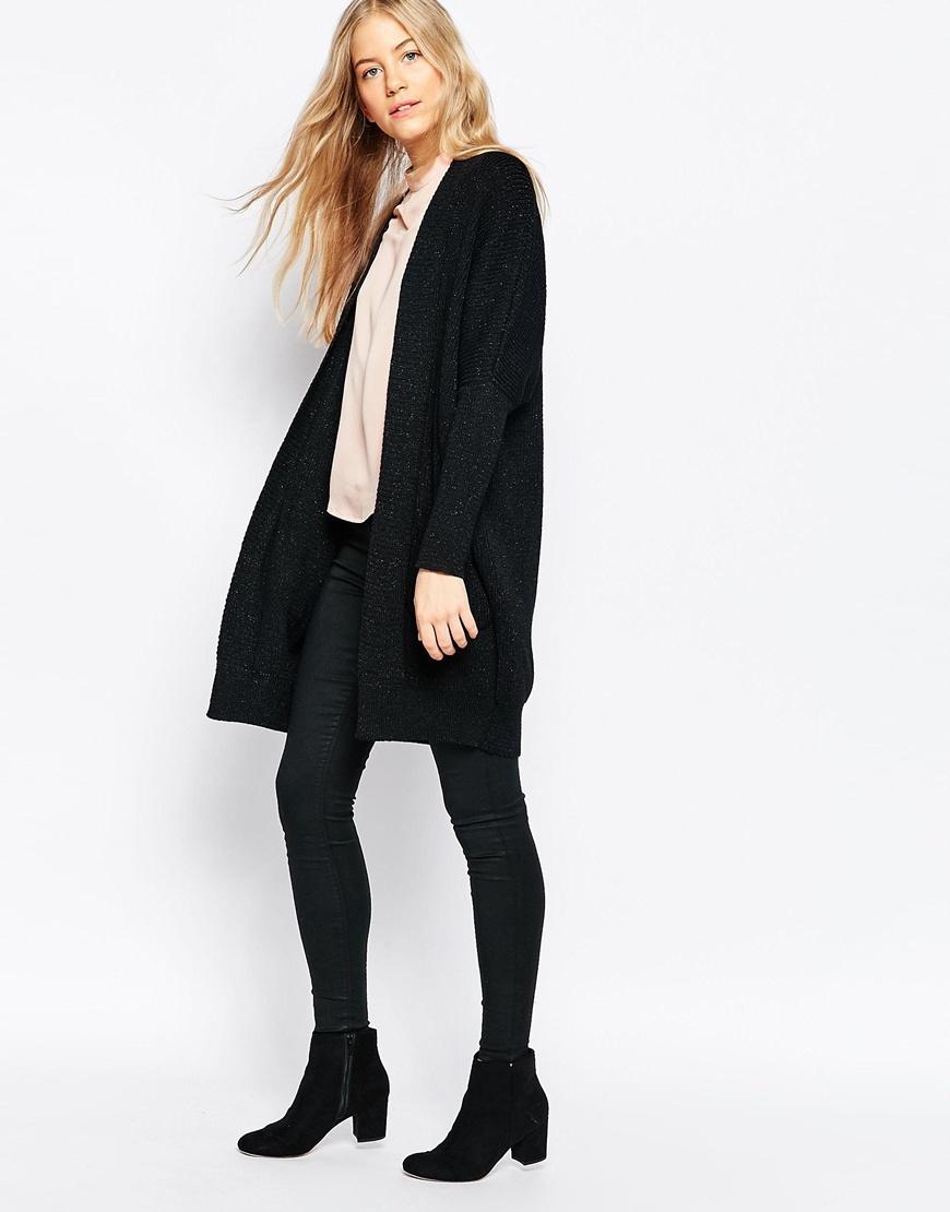 Ganni Uma Knit Longline Cardigan in Black | Lyst