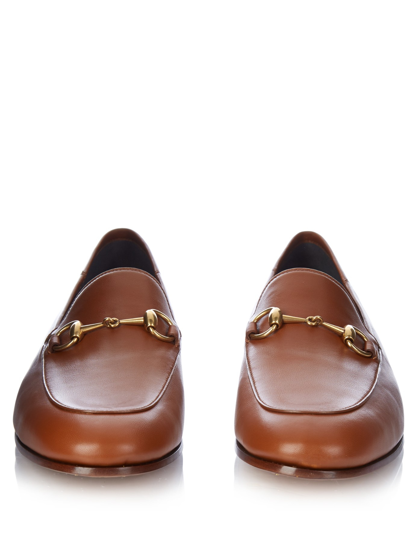 aadbf413a31 Lyst - Gucci Brixton Leather Loafers in Brown for Men