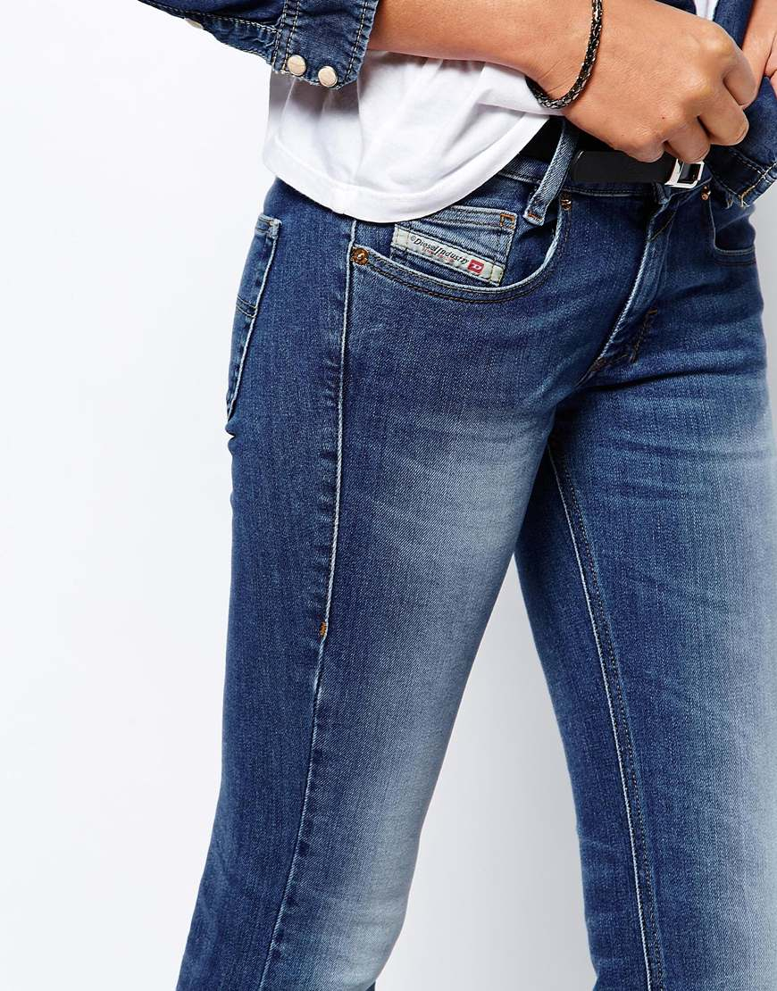 Diesel Louvboot Faded Bootcut Jeans in Blue | Lyst