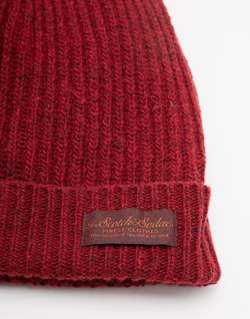 Scotch   Soda Beanie Hat in Red for Men - Lyst ccf23d44b9f