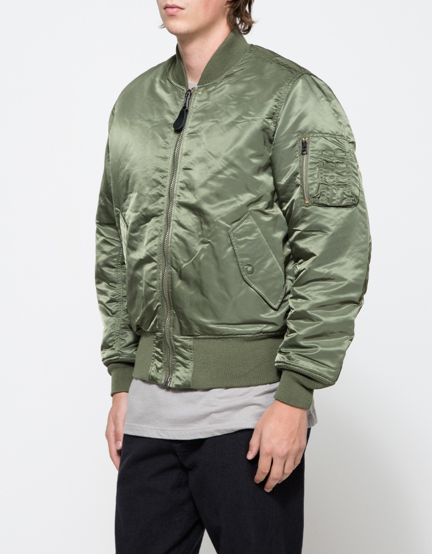 Lyst - Alpha Industries Ma-1 Flight Jacket In Sage in Green for Men b6b0ab82293