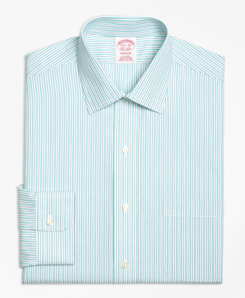 Brooks brothers non iron regent fit split stripe dress for Brooks brothers non iron shirts review