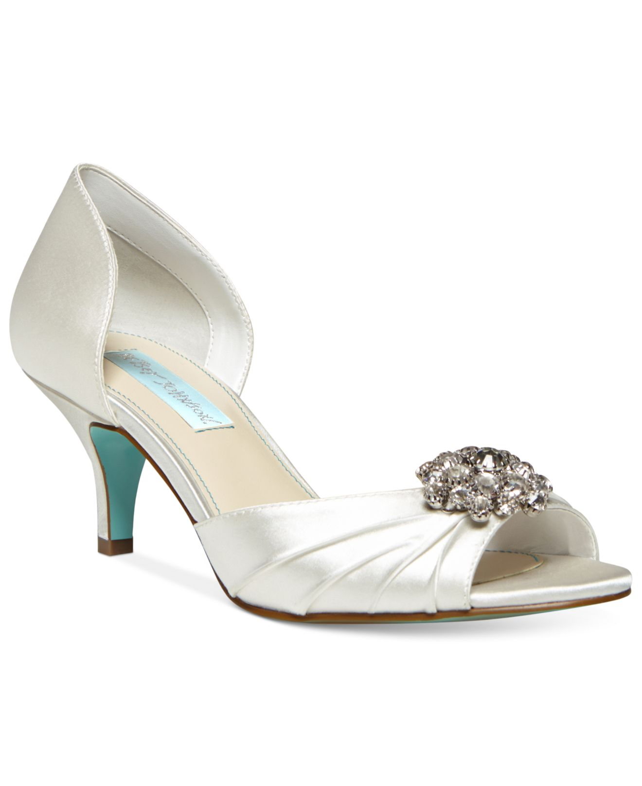 97f868e2248 Lyst - Betsey Johnson Blue By Stun Low Heel Evening Pumps in White