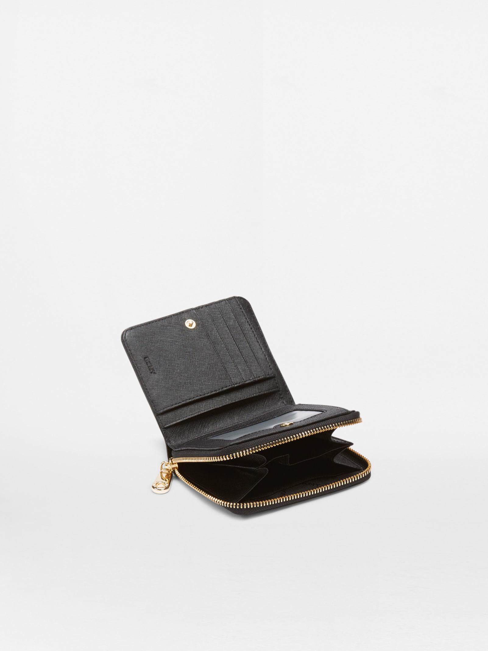 79740b82a ... dkny saffiano small carryall in black lyst dkny saffiano black small zip  around purse ...