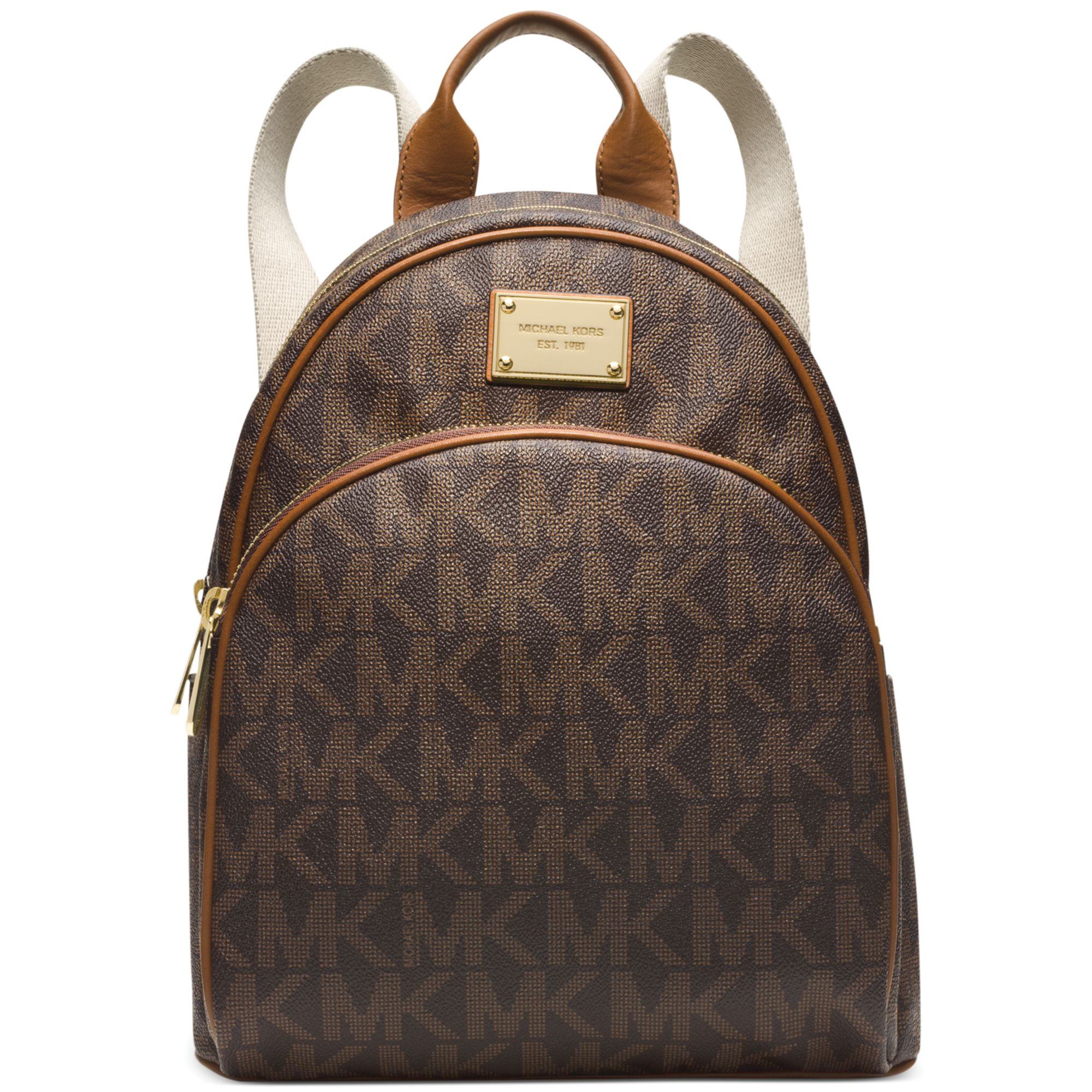 michael kors michael signature small backpack in brown. Black Bedroom Furniture Sets. Home Design Ideas