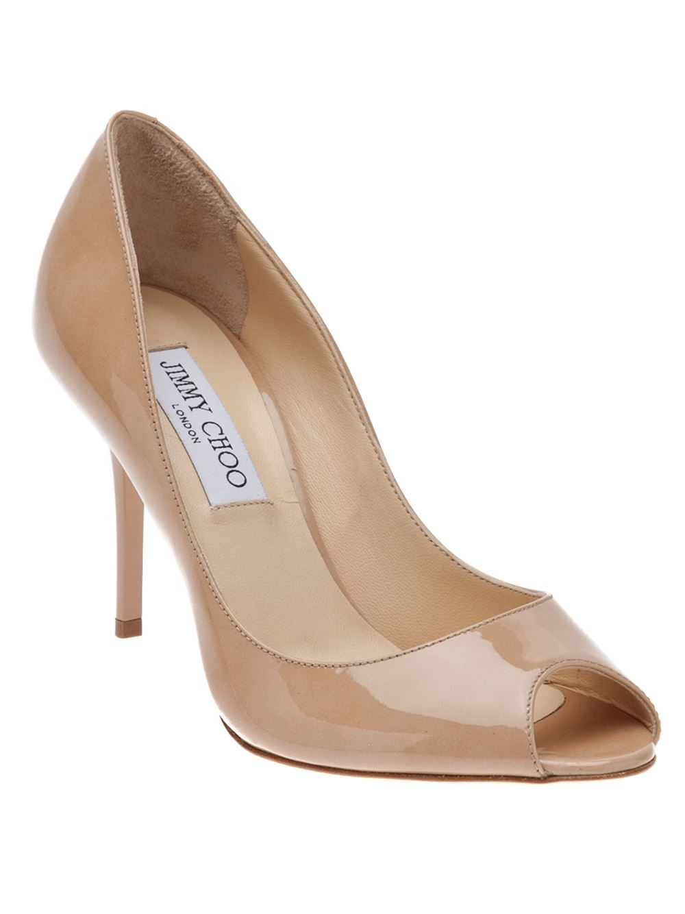 8f9b9b605c0 Lyst - Jimmy Choo Evelyn Pump in Natural
