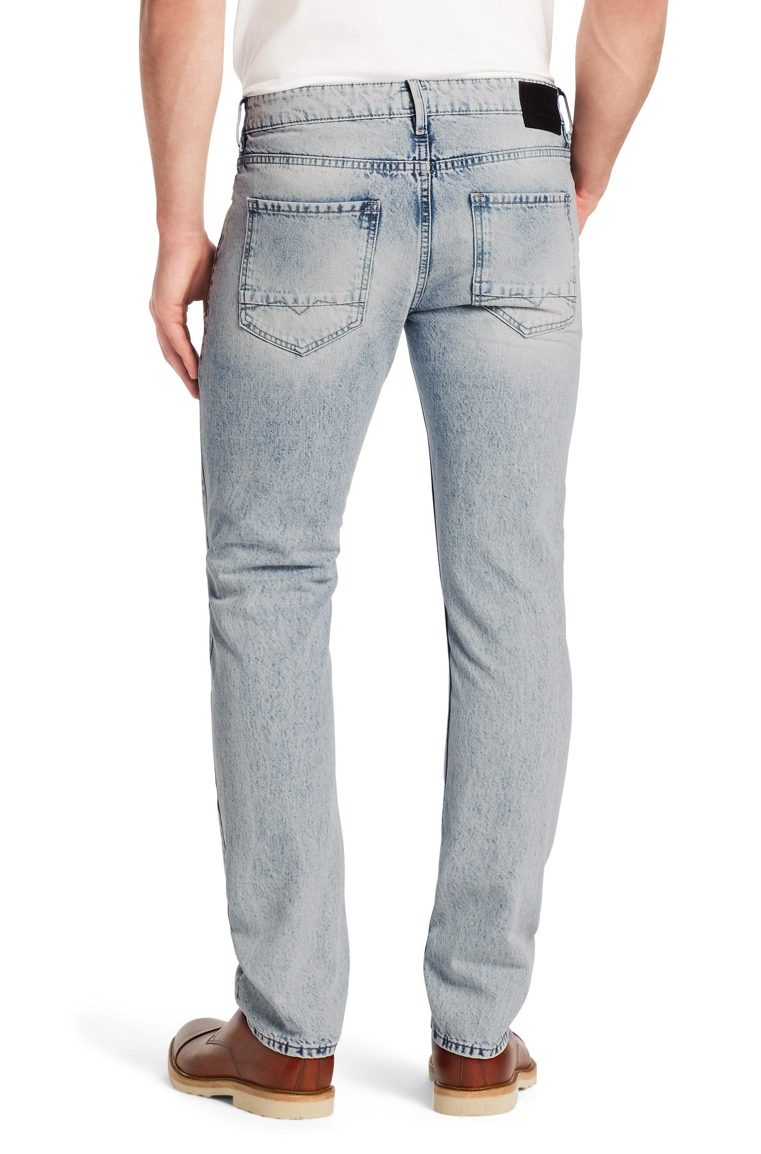 lyst boss orange jeans in mid wash regular fit in blue. Black Bedroom Furniture Sets. Home Design Ideas
