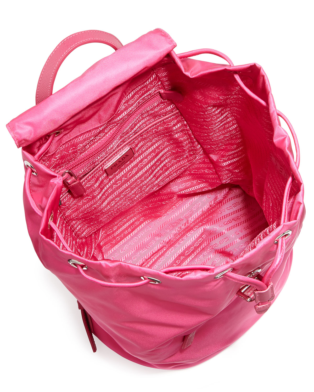 ... best price lyst prada vela medium backpack in pink 7fcf3 d854e 59bc5dfca7267